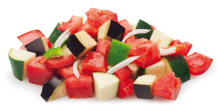 verduras para pisto