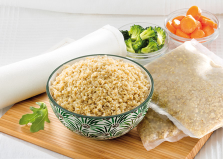 quinoa precocida congelada