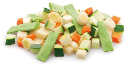 verduras congeladas pure