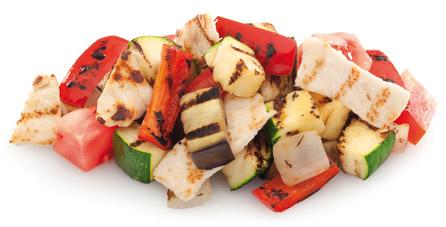 parrillada verduras pollo