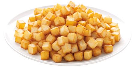 patata frita dados congelada