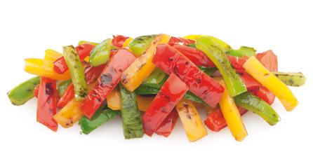 pimiento tricolor asado