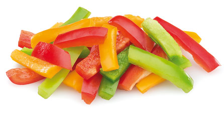 mezcla de pimientos congelados tricolor