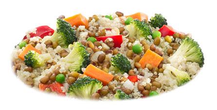 salteado quinoa congelado